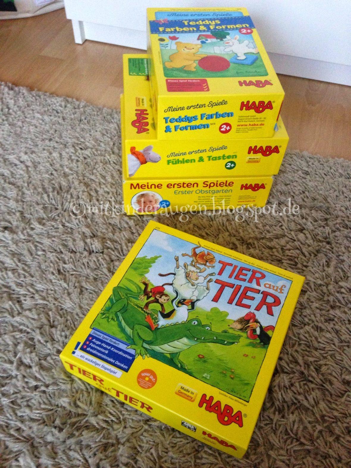 HABA Tier auf Tier Stapelspiel Geschicklichkeitsspiel Kinderspiel Kinder Spiele