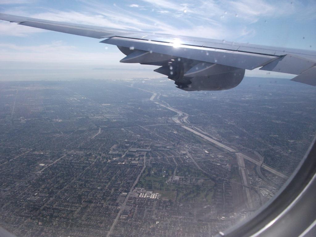 Anflug auf LA