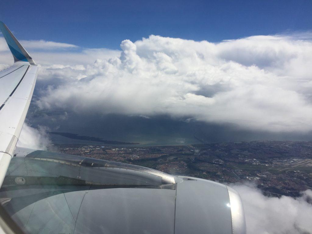 Super Ausblick beim Landeanflug in Lissabon