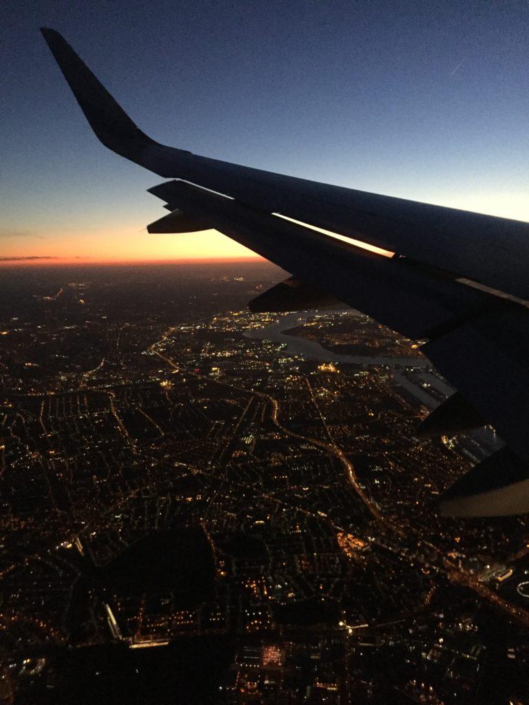 Auf dem Weg nach London: Landeanflug