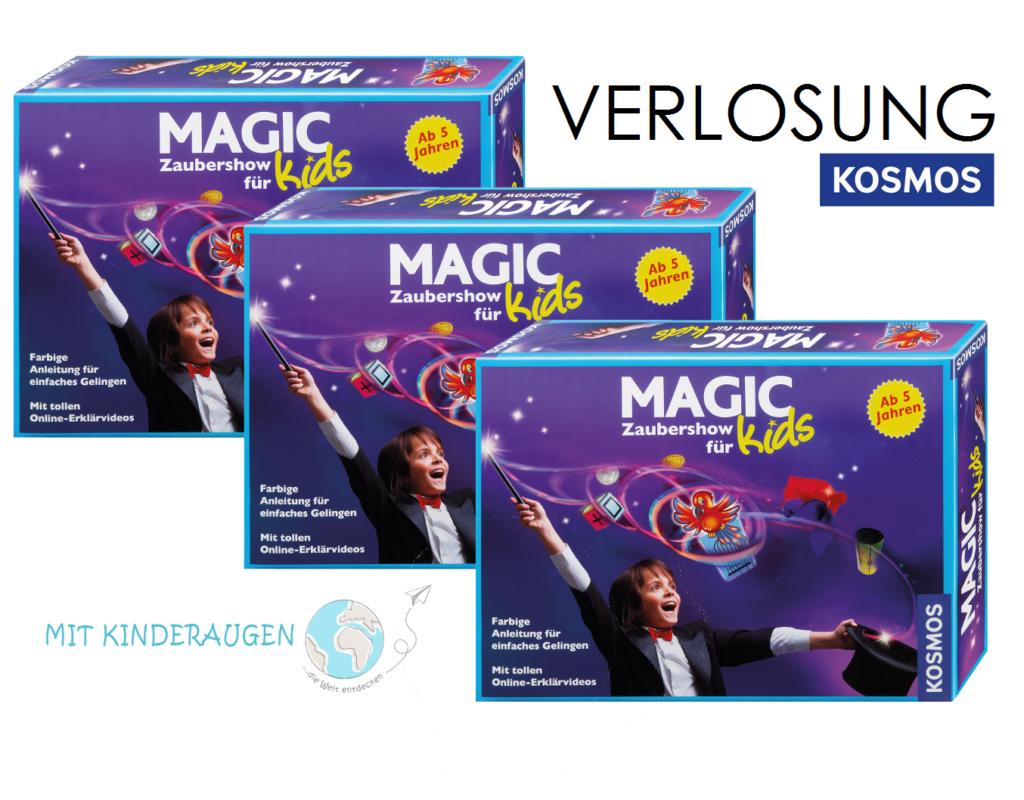 """Der Zauberkasten """"Magic Zaubershow für Kids"""" vom KOSMOS Verlag ist für Kinder ab fünf Jahren."""