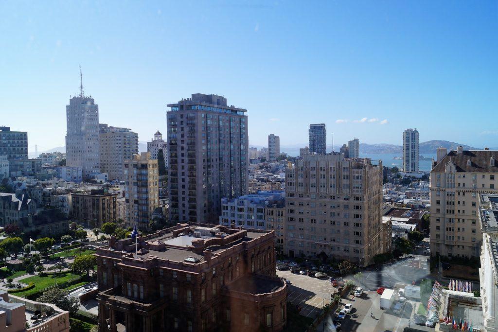 Aussicht vom Zimmer auf San Francisco im InterContinental Mark Hopkins Hotel