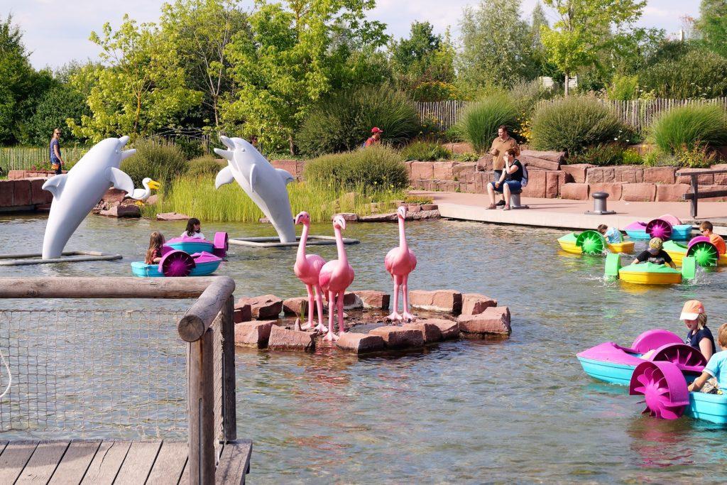 Eine kleine Bootsfahrt im Playmobil Funpark, die besonders im Sommer viel Spaß macht.