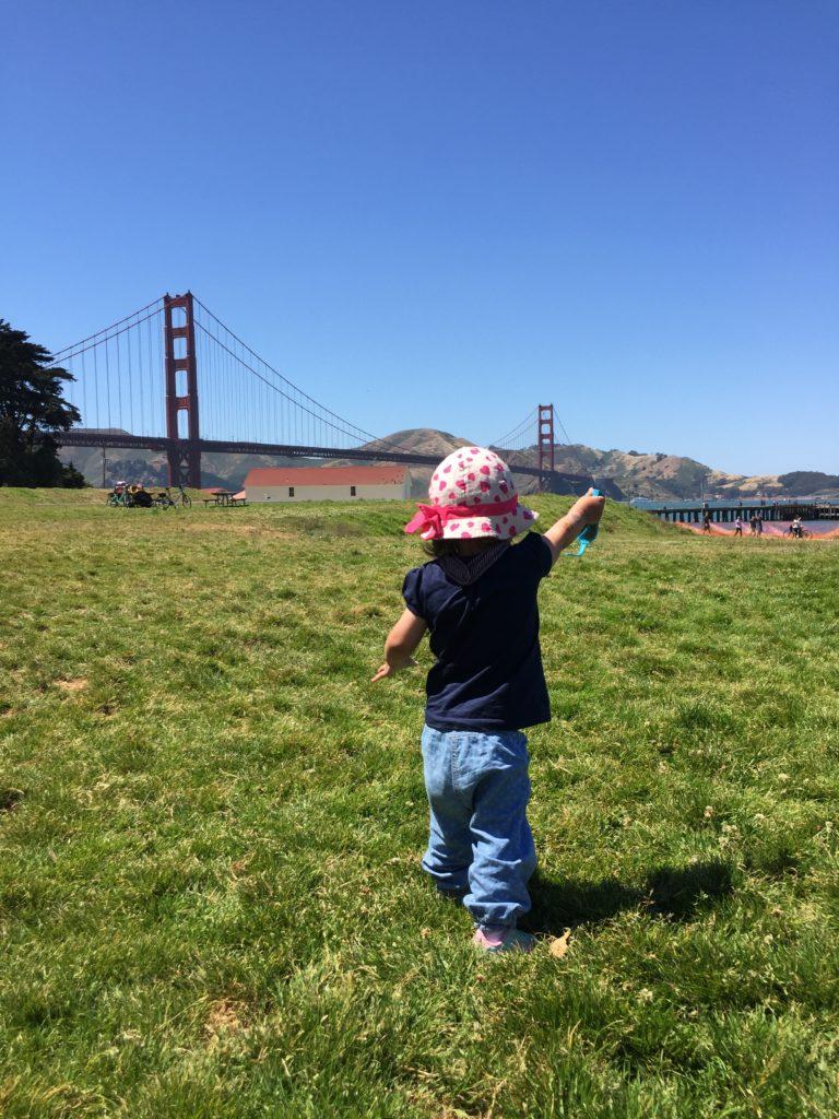 Vor der Golden Gate Bridge in San Francisco