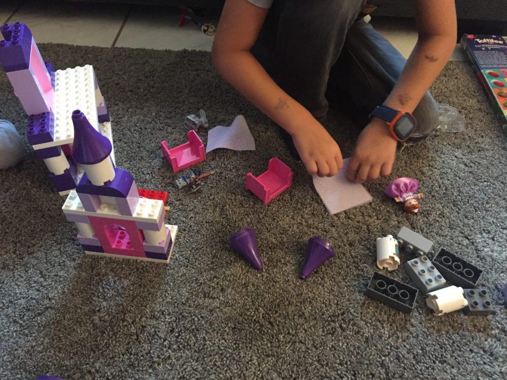 spielen mit dem Lego Prinzessin Sofia Set