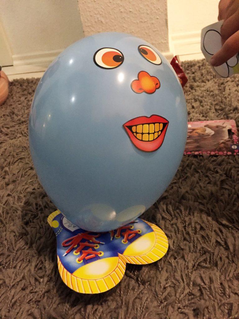 lustiges Luftballongesicht
