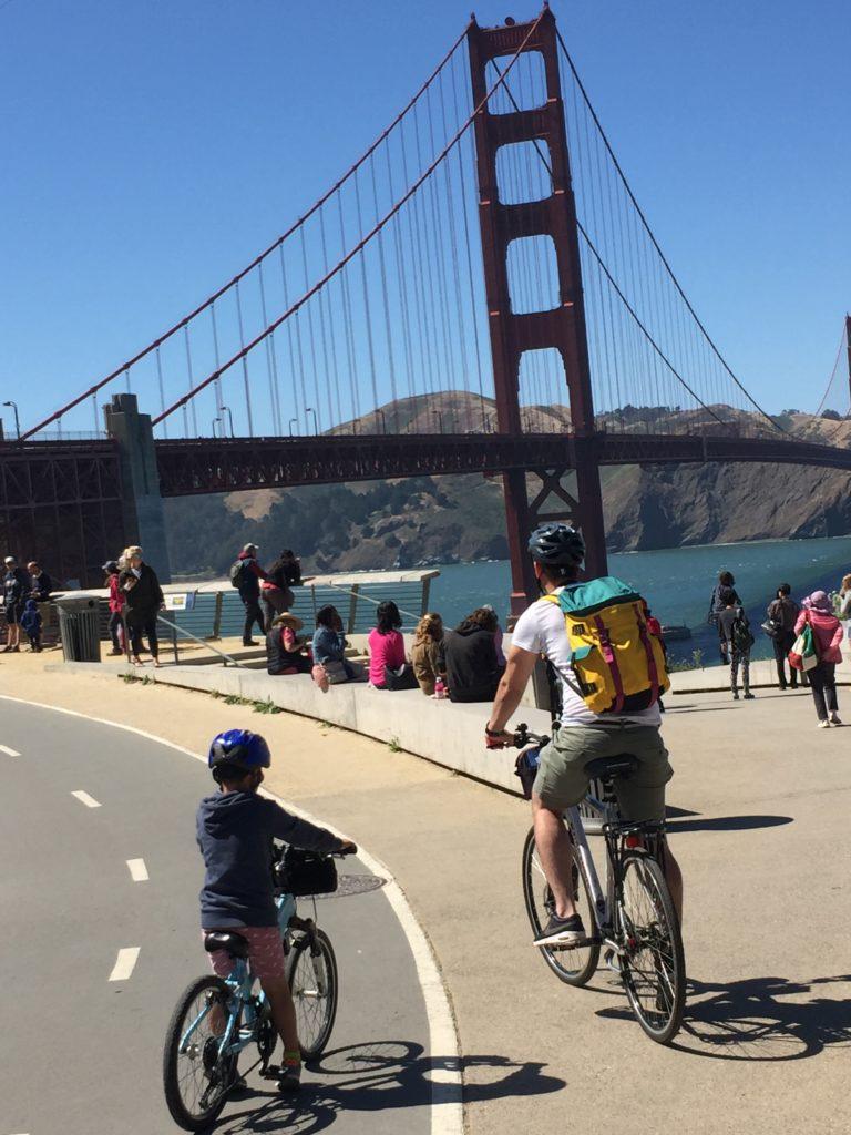 mit den fahrrädern über die golden gate bridge