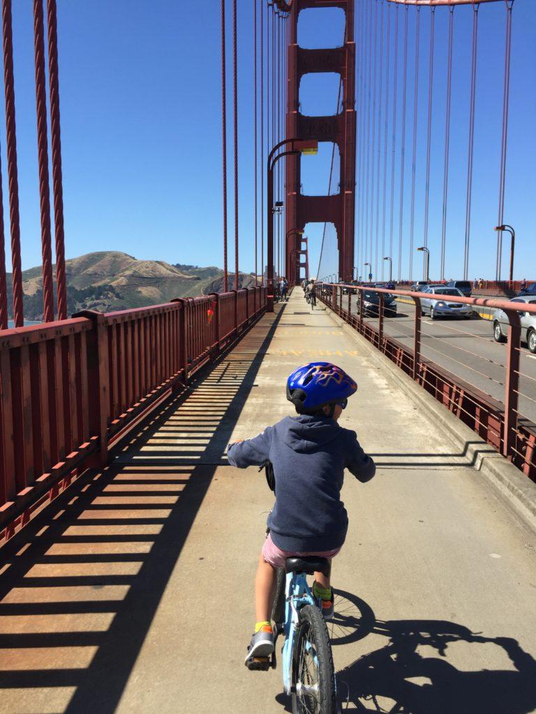 für kinder besonders toll: eine radtour über die golden gate bridge