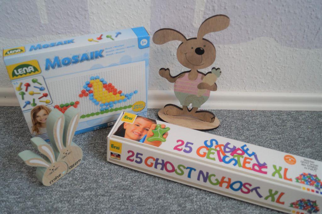 Stapelgeister Spiel von Erzi und Mosaik Steckspiel von tausendkind