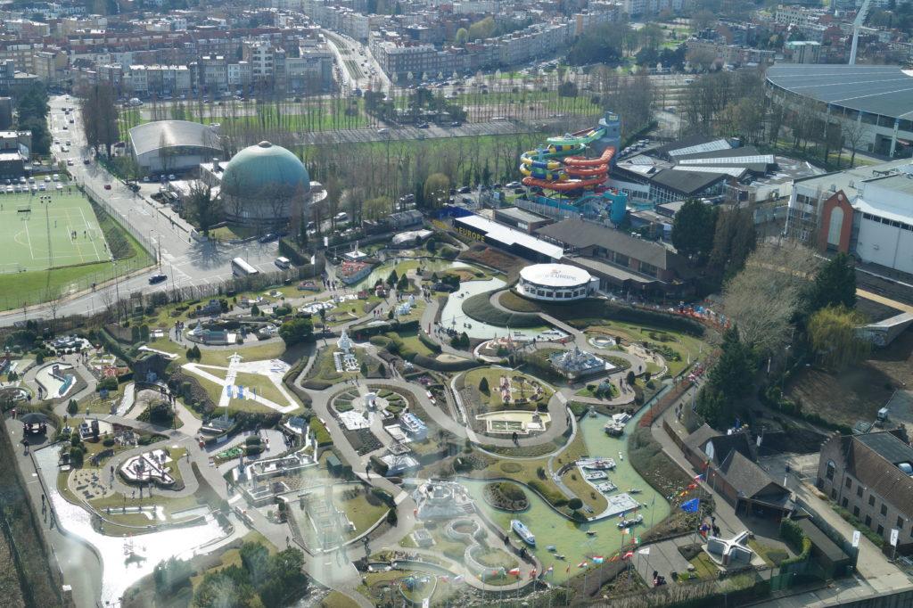 Mini Europe von oben vom Atomium aus
