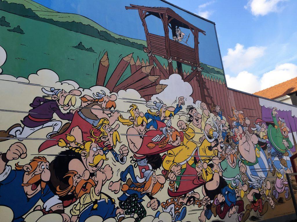 Asterix und Obelix Comic in Brüssel