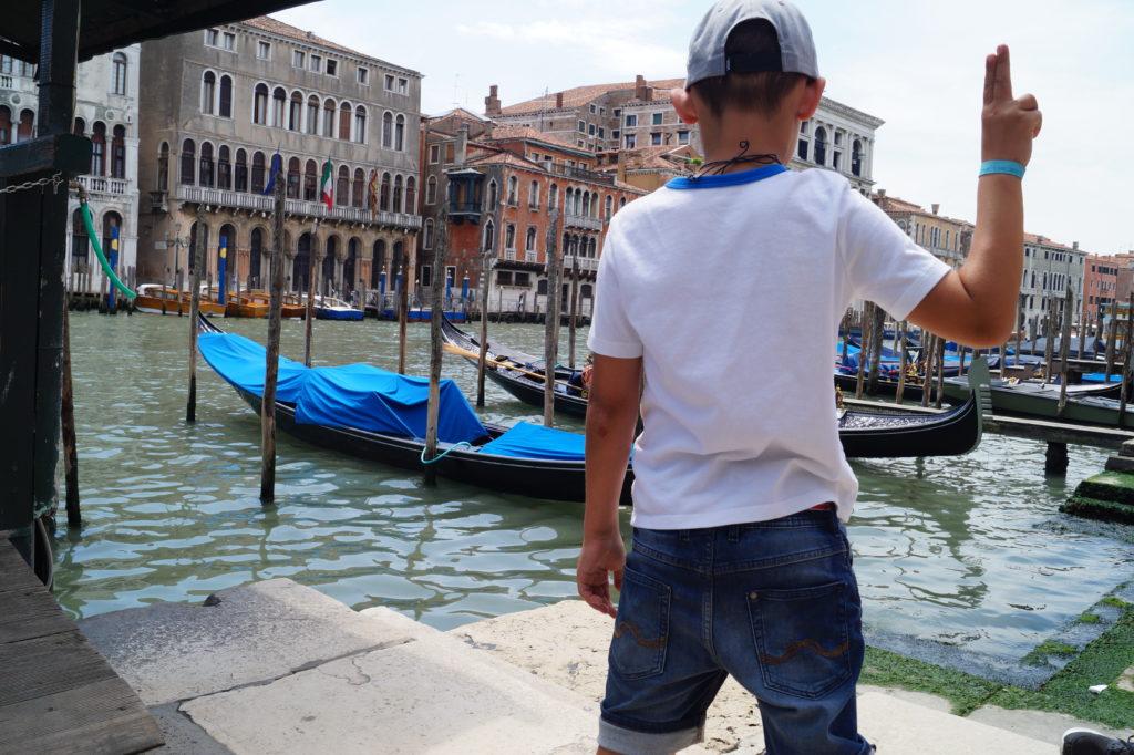 Mit Kindern in Venedig bei der Ponte di Rialto