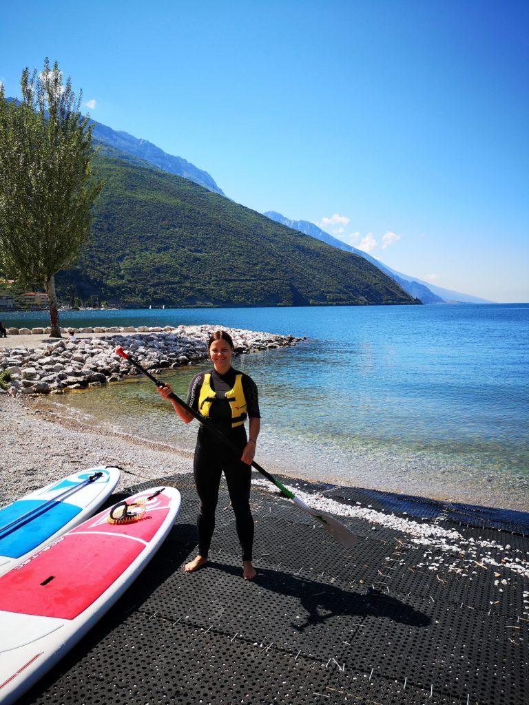 board und paddle fürs sup