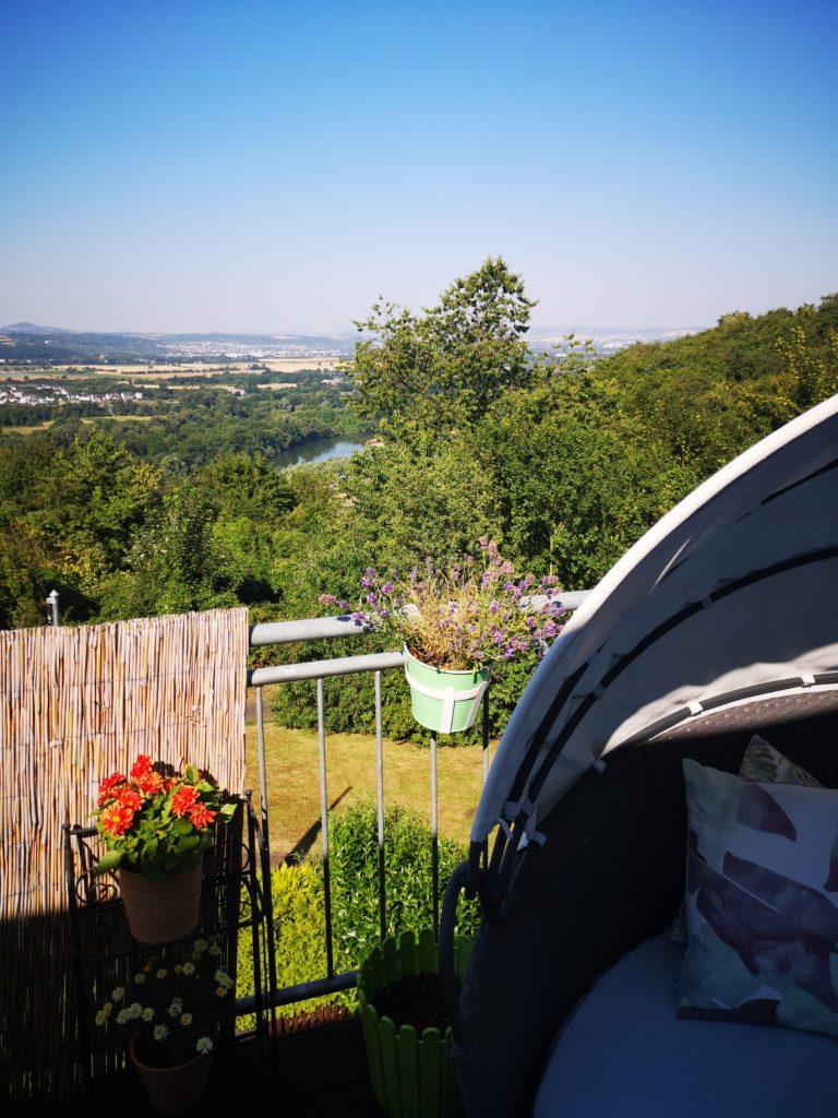 Unser Zuhause: Wahnsinns Ausblick über den Rhein