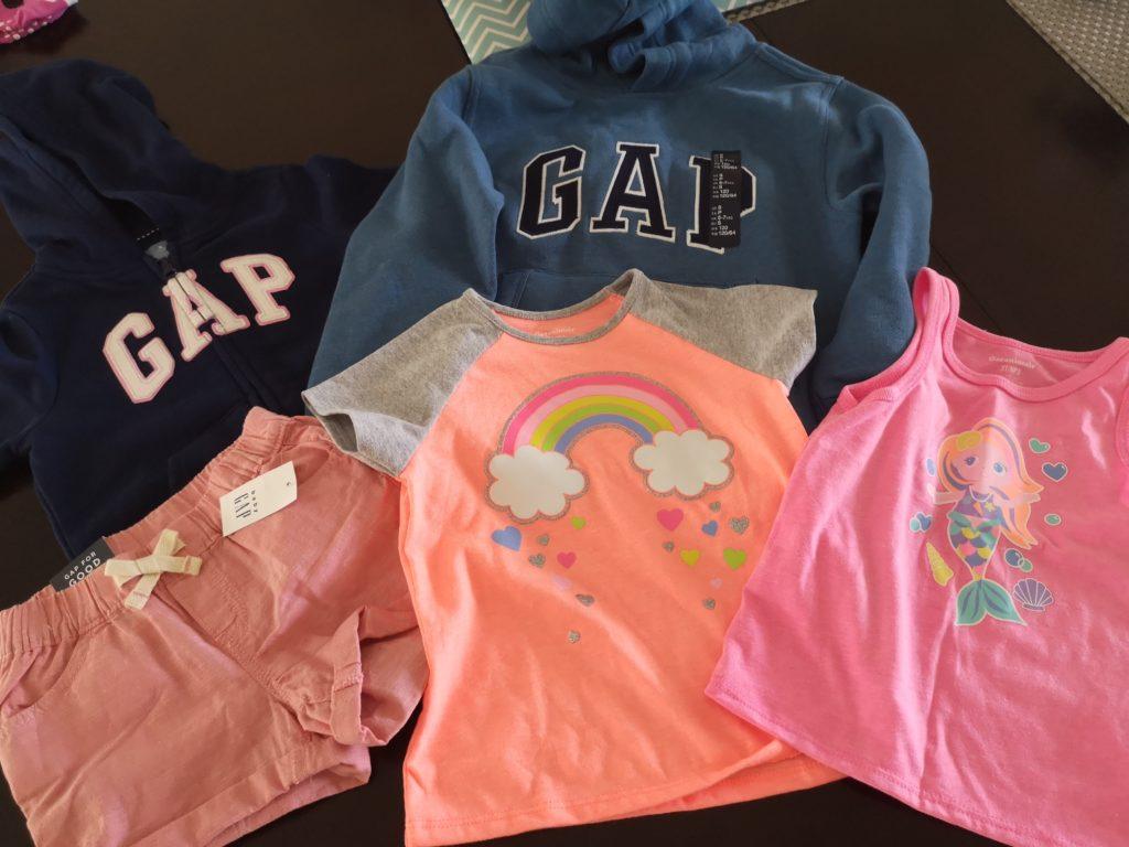 GAP Shopping Aubeute für die Kinder