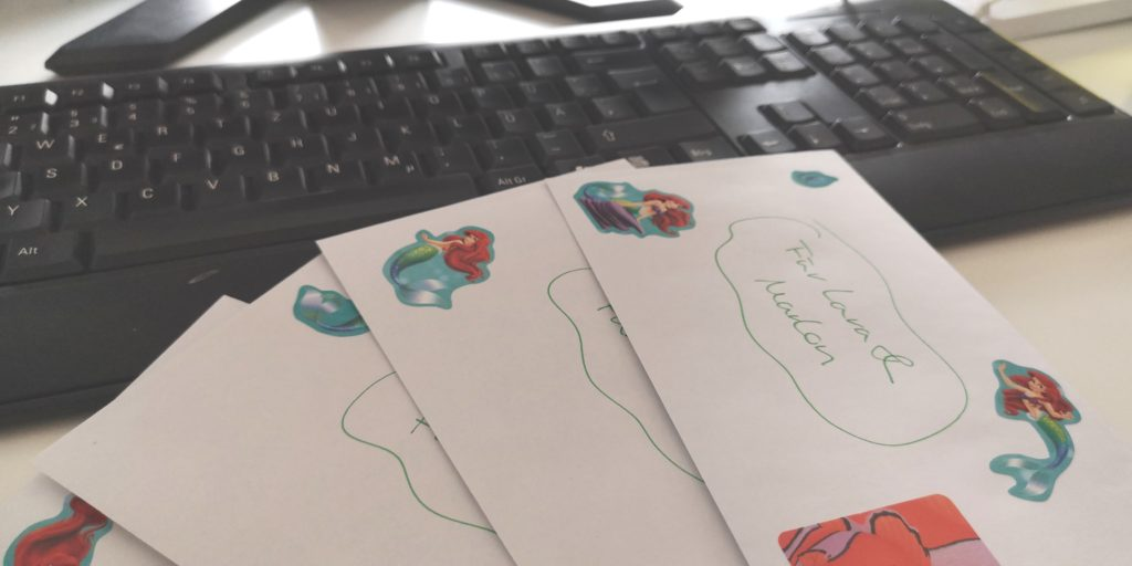 Einladungskarten für den Arielle Geburtstag