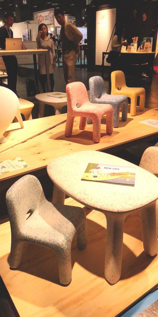 Kindermöbel aus recyceltem Spielzeug von ecoBirdy