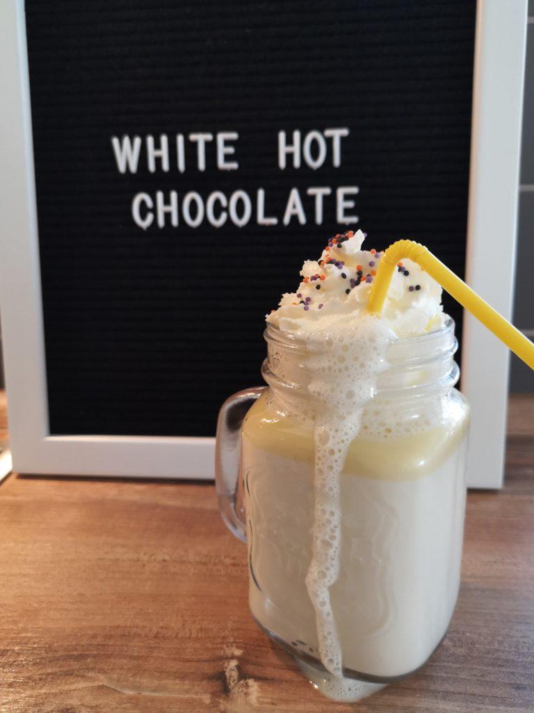 Rezept für eine weiße heiße Schokolade