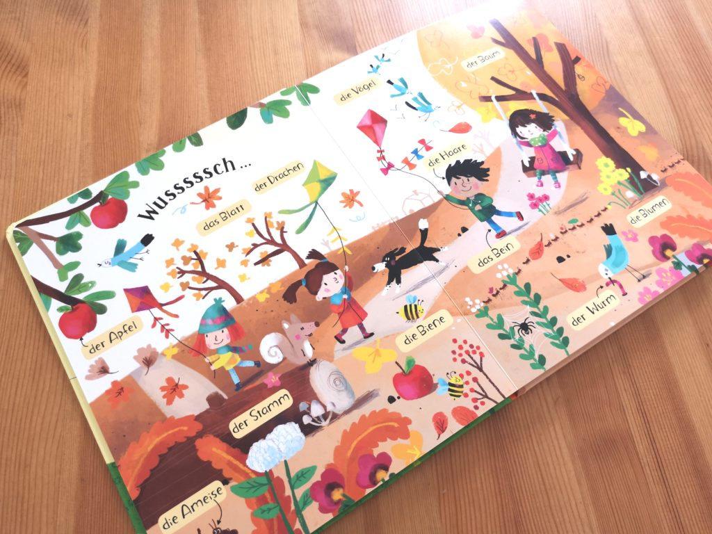 Schöne Illustrationen in Meine Welt in 100 Wörtern vom Usborne Verlag