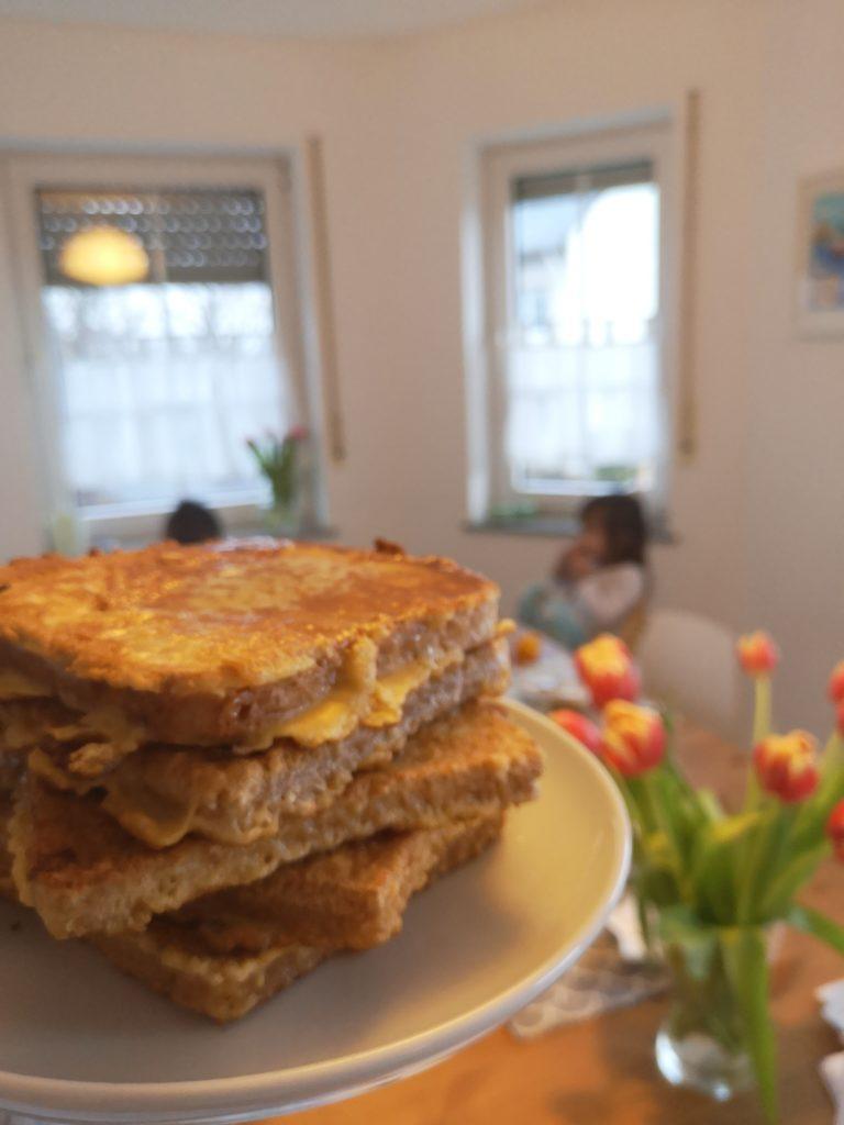 french toast für das sonntagsfrühstück