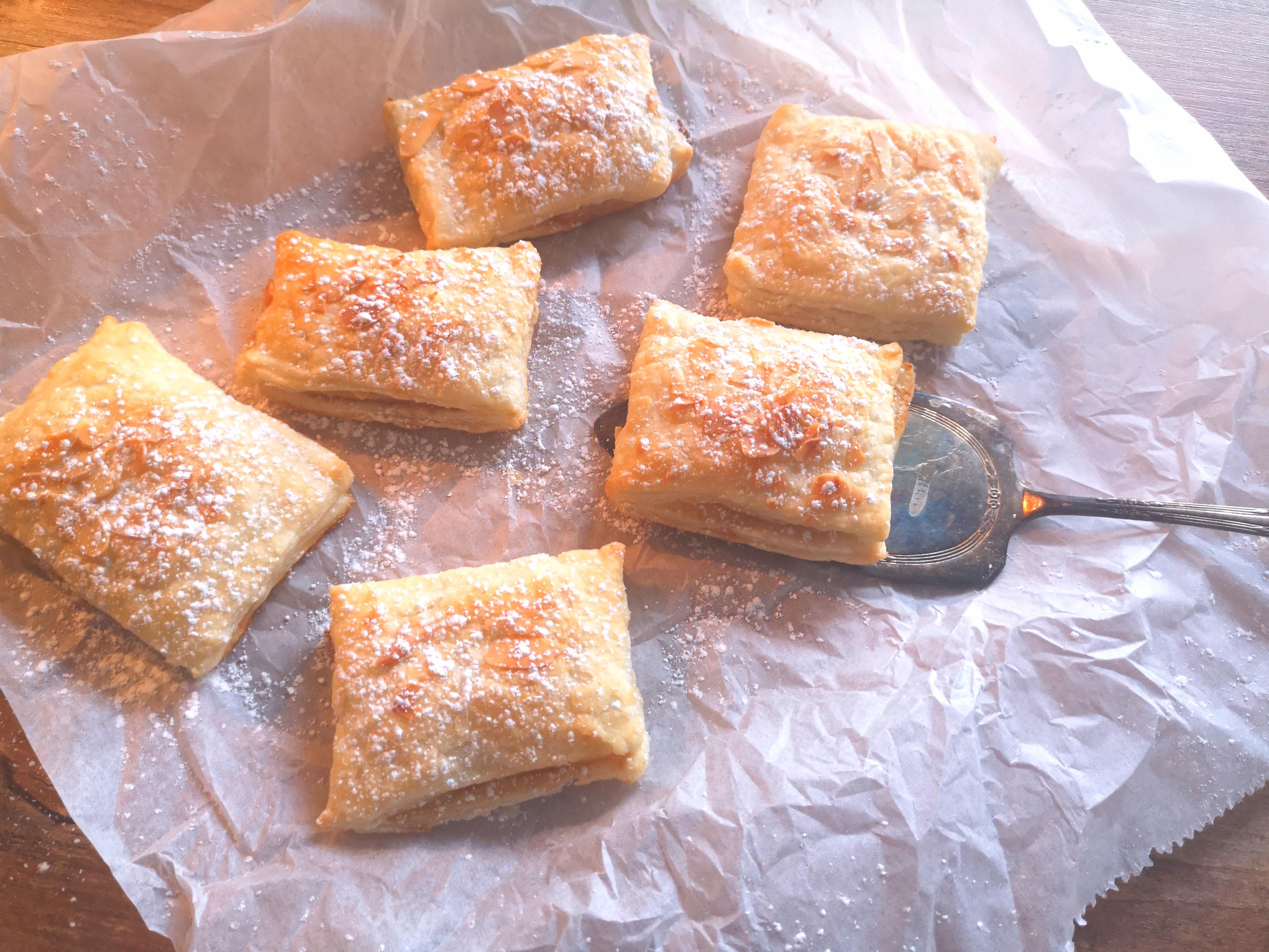 Einfaches Rezept für Marzipan Blätterteigtaschen