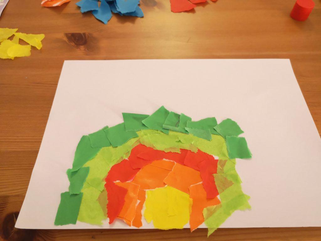 diy für kinder: regenbogen basteln