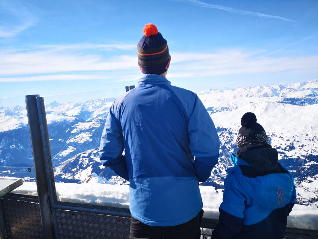 Ausblick vom Rothorngipfel in fast 2900m Höhe