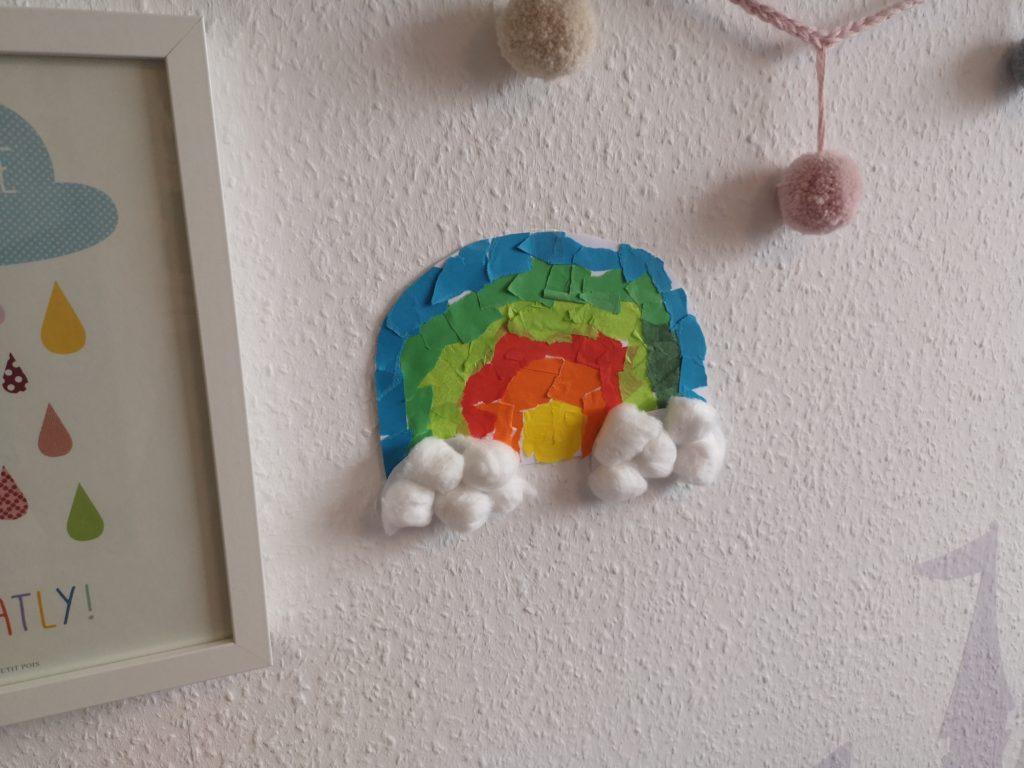 regenbogen fürs kinderzimmer selber basteln