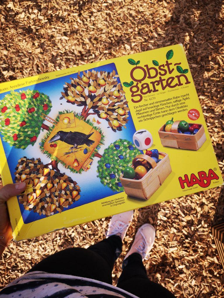 flohmarkt schnäppchen: das große obstgarten spiel von haba