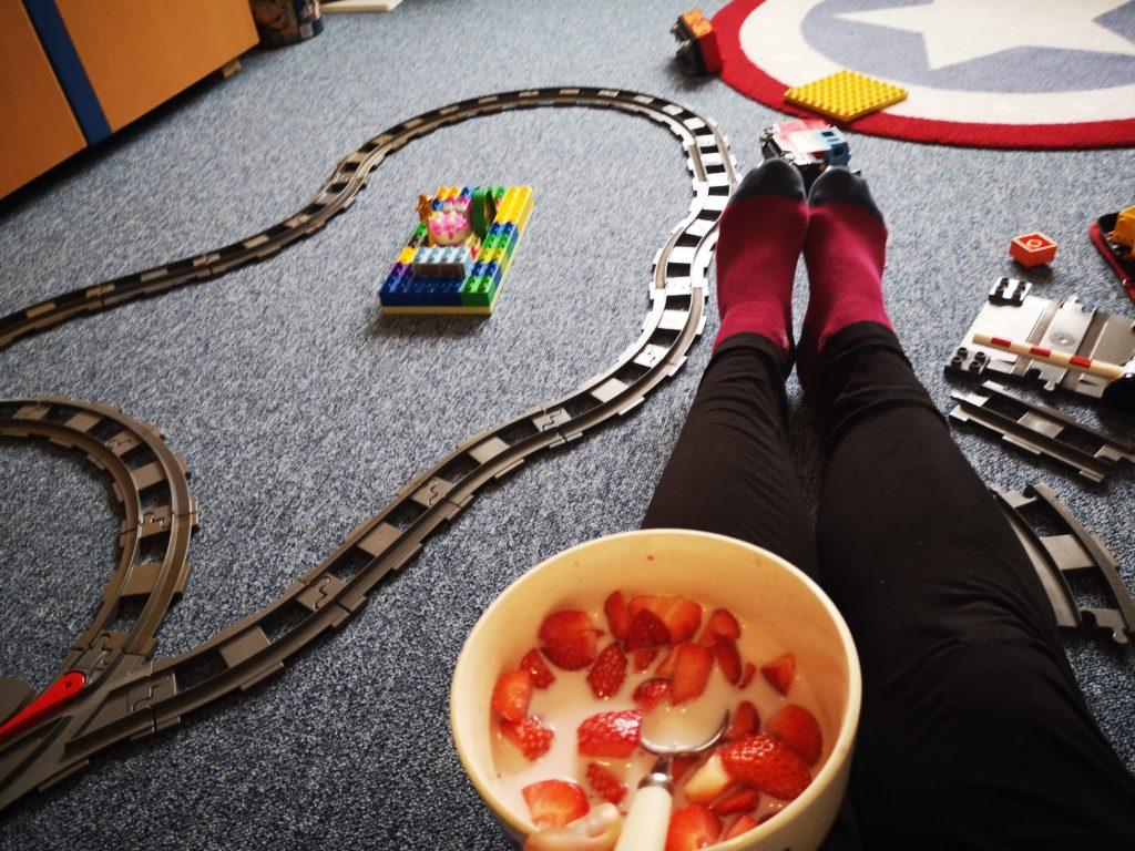 spaß mit der lego duplo eisenbahn