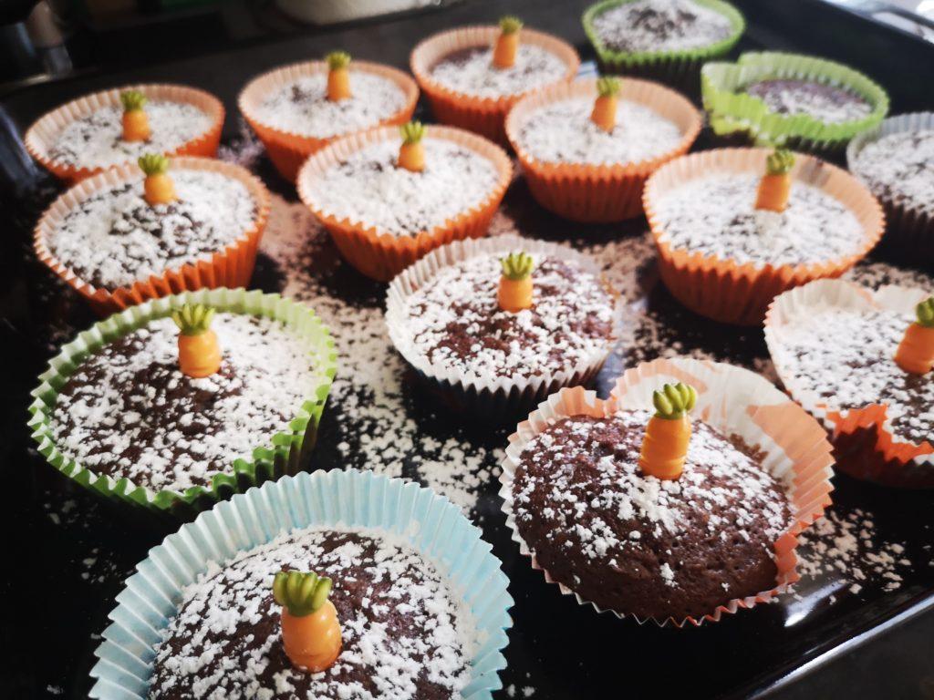 schoko muffins zu ostern