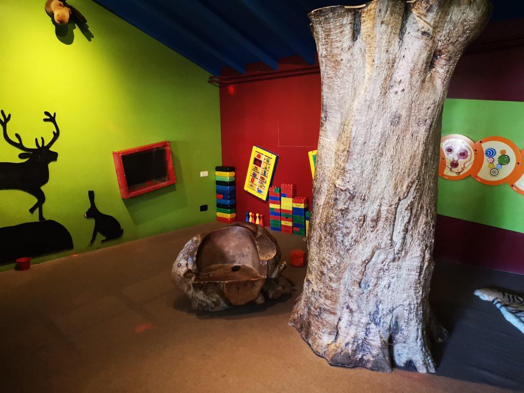 spielbereich für kinder bei woody´s restaurant in holten