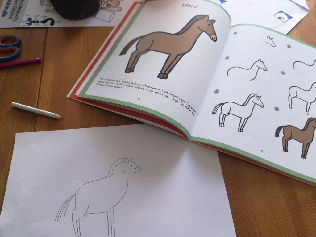 schritt für schritt ein pferd malen