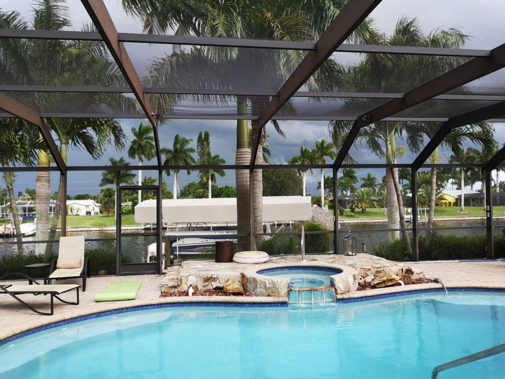 auch mit gewitterwolken wunderschön: ferienhaus in florida