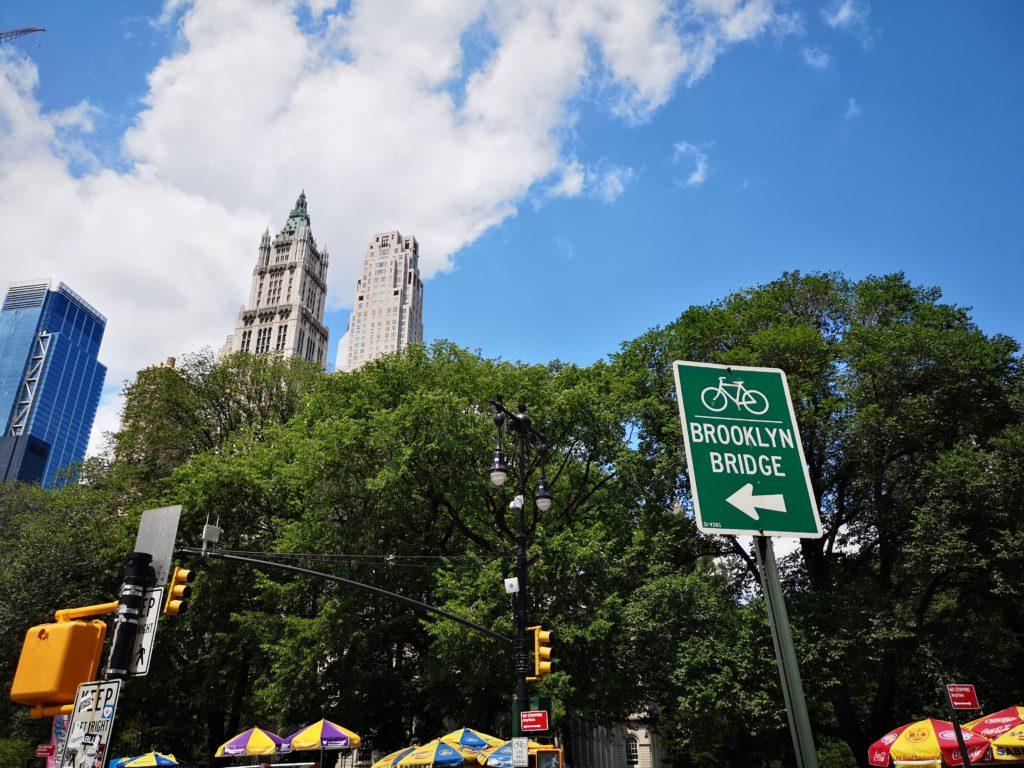 gut becshilderte fahrradwege in new york
