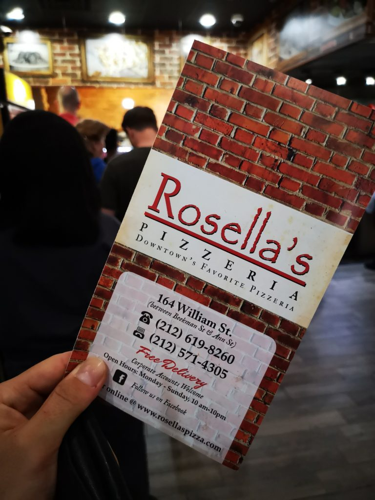 rosella´s pizzaria in manhattan