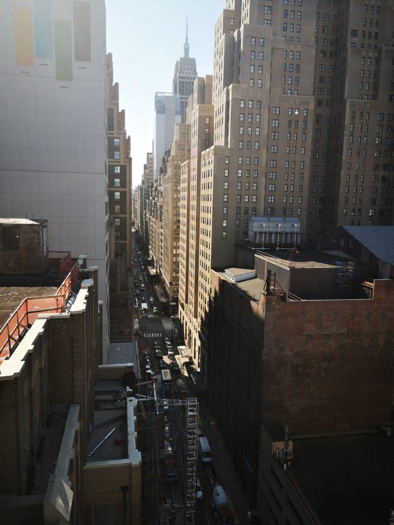 blick von dr dachterrasse ds tryp hotel in new york