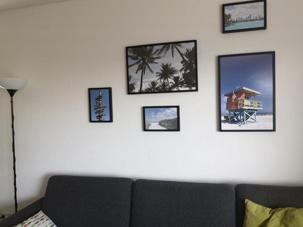 florida feeling im wohnzimmer mit motiven von posterlounge