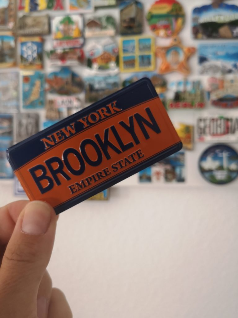 erinnerungen an new york: magnet von brooklyn