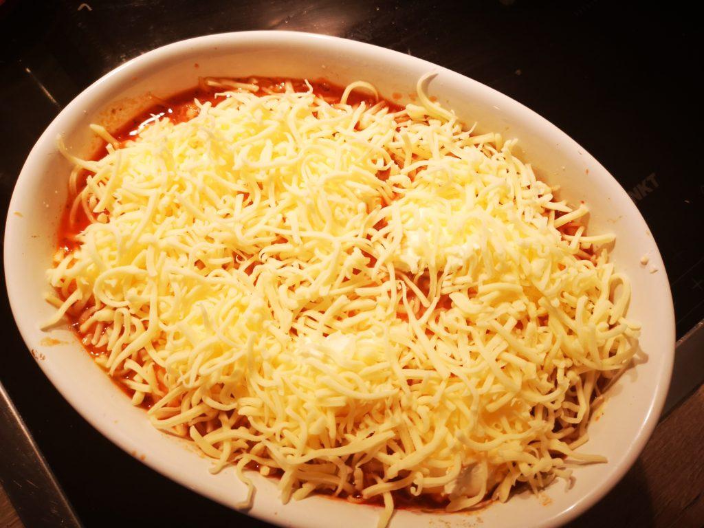 schneller auflauf mit spaghetti und schmand