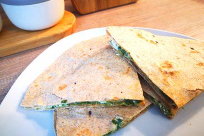 schnelles rezept für spinat käse wraps