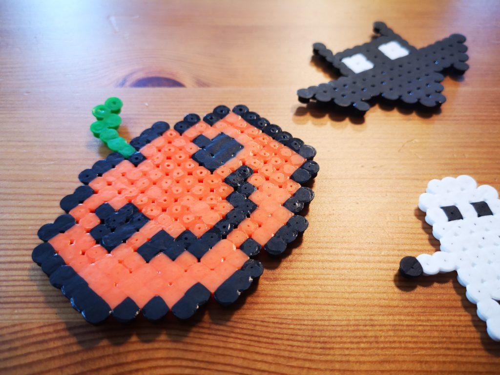 schnell und einfach halloween bügelperlen figuren basteln