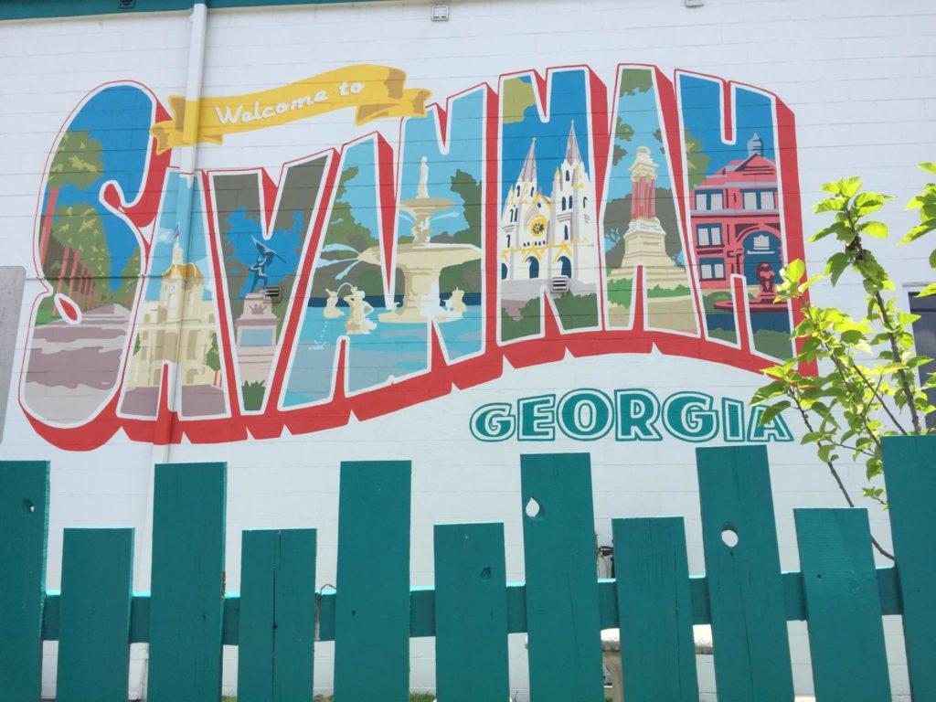 schönes savannah graffiti