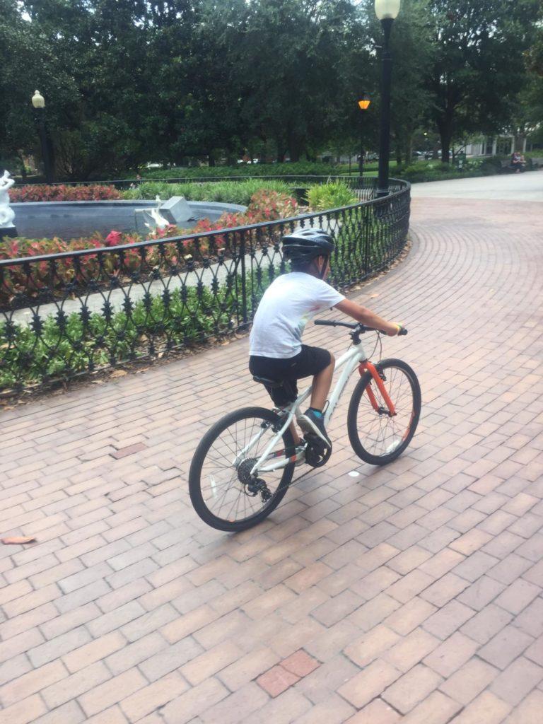 fahrradtour durch savannah mit kindern