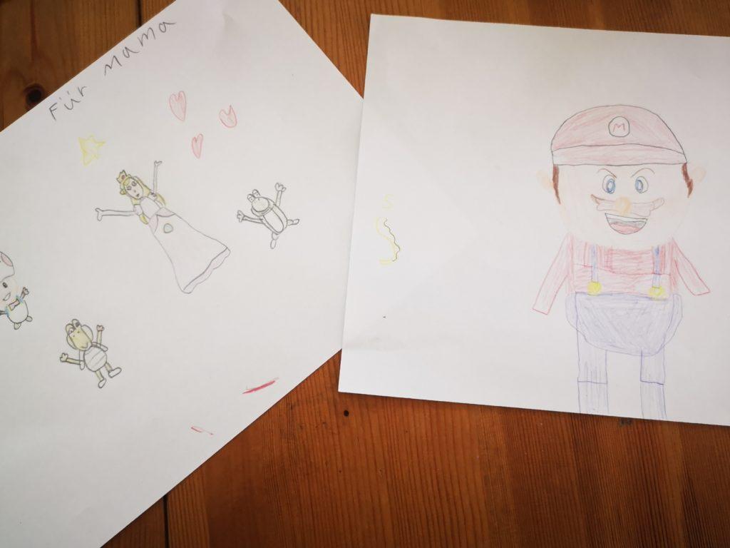Super Mario Kunstwerke gemalt vom Mini Chef