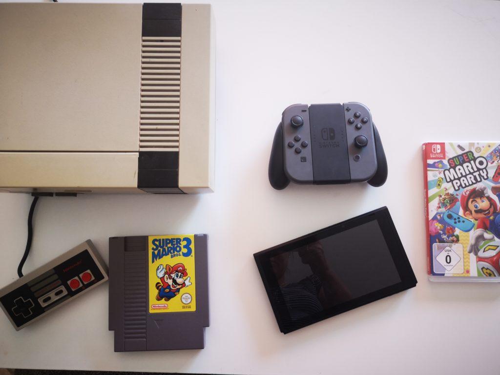 nintendo konsole vor 30 Jahren und heute im Vergleich