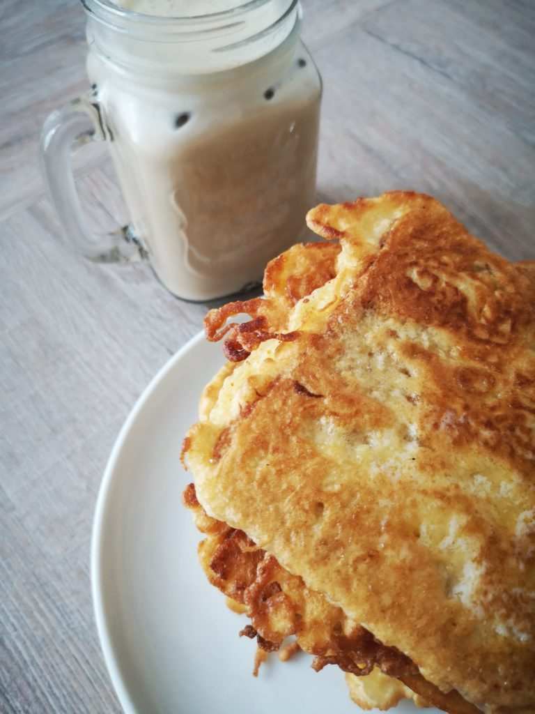 french toast mit eiskaffee