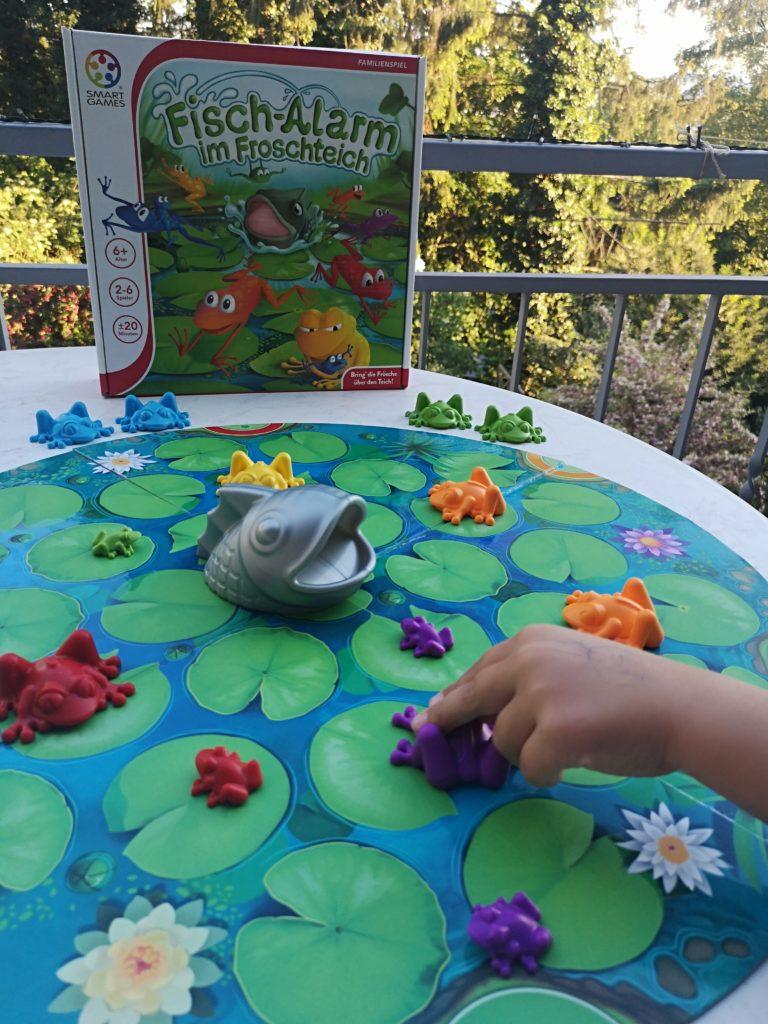 frosch-alarm im fischteich zu gewinnen