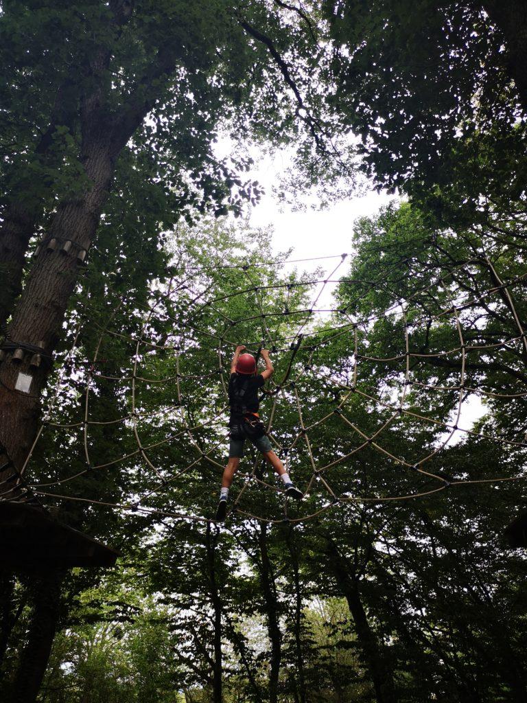 klettern wie spiderman im kletterwald diez