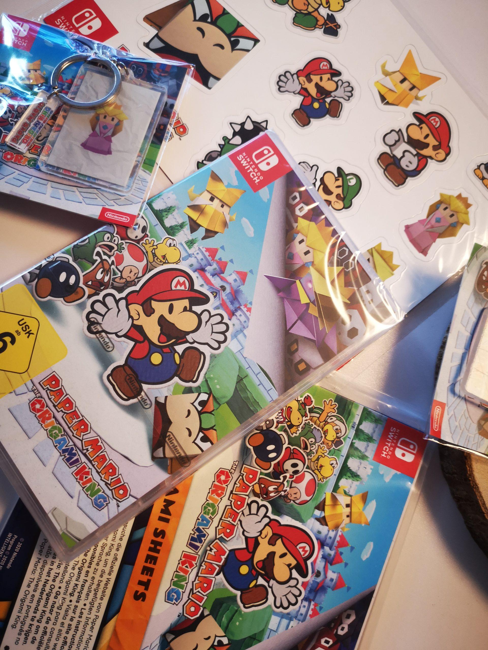Paper Mario Paket für die Nintendo Switch zu gewinnen